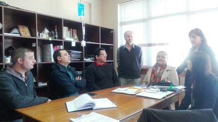 Dr. Guilherme Embrapa, Decano de la Facultad de Ingenieria y Ciencias de UFRO, Dr. Ing. Cristian Bornhardt B.; Dra. Maria C. Diez (UFRO) Y la Dra Olga Rubilar (UFRO)
